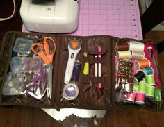Perfect fun gift for the sewing enthusiast! Use the Timeless Beauty Bag from Thirty-One to keep all of your needles, thread, Scissors and supplies organized. Click the link to customize your own now. #sewing #thread