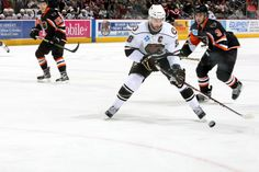 12597a0f2b9 Captain Dane Byers chasing down the puck against the Lehigh Valley  Phantoms. Photo courtesy of JustSports Photography. Hershey Bears