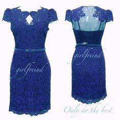 Ageless #fashion - #handmade #vintage #sweetheart princess slim #blue #lace #dress #coniefox #2016prom