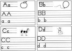 Letters Kindergarten Handwriting Worksheets from School Coloring Pages category. Find out more awesome coloring sheets for your kids 1st Grade Writing Worksheets, Kindergarten Handwriting, Handwriting Practice Sheets, Learn Handwriting, Handwriting Practice Worksheets, Handwriting Alphabet, Handwriting Analysis, First Grade Writing, 1st Grade Worksheets