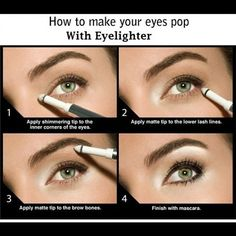 Quick make-up tutorial... This is how I do my eye make-up every time & it makes a huge difference in really making the eyes pop! - @Leyla Naghizada- #webstagram