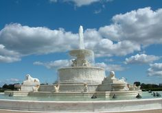 Belle Isle, Michigan. The Scott Fountain is 510 feet across, and its central fountain could spray water 125 feet into the air.