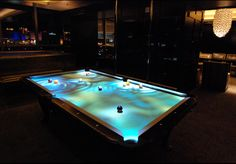 interactive pool table for the ultimate bachelor pad.