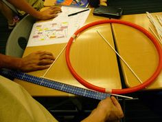 Interactive lesson on circle theorems involving hula hoops and lots of interactive learning. Geometry Lessons, Teaching Geometry, Geometry Activities, Math Lessons, Teaching Math, Math Activities, Math Games, Math Enrichment, Teaching Ideas