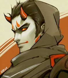 images like anime art Overwatch Genji, Overwatch Fan Art, Character Concept, Character Art, Concept Art, Dnd Characters, Fantasy Characters, Demon Manga, Oni Demon