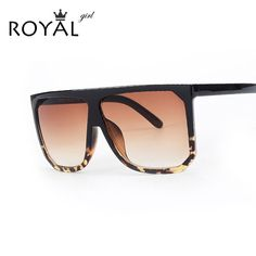 ROYAL GIRL New Brand Designer Fashion Women Sunglasses Oversize Female Flat Top