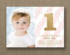 First Birthday Invitations St Birthday Cards Tiny Prints - First birthday invitations girl online