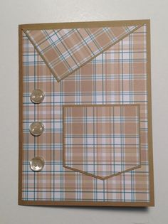 Fathers Day, Masculine, Male card, Collard Shirt with Buttons