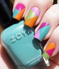 top colorful nails 2012