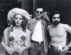 Martin Scorsese, Robert De Niro, and Jodie Foster (1975)