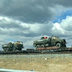 Another train loaded with military hardware spotted in Buryatia, Eastern Russia.