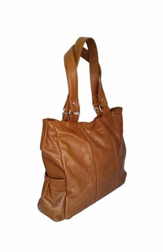 Brown tote leather bag fashion purse everyday rustic handbag handmade  katty  #Fgalaze #TotesShoppers