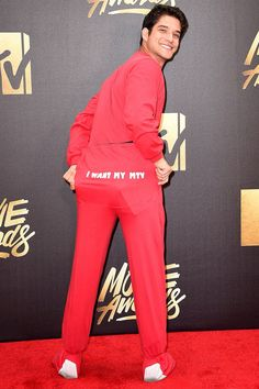 Tyler Posey - MTV Movie Awards Red Carpet Fashion 2016