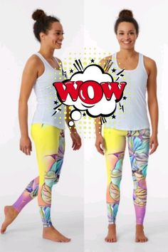 New colorful, floral, spring design on these high quality leggings. You will love the fabric and the fit!