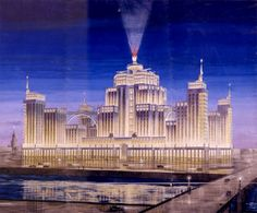 Soviet architecture. Unrealized project