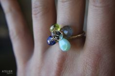Delicate Gem Flower Goldfilled Ring by ATELIERGabyMarcos on Etsy, $65.00