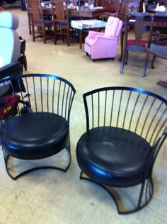 Super cool mid century chairs...