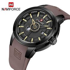 a6f5bbd6bf1 NF9107 NAVIFORCE Watches-Quartz-TouchyStyle-black red-TouchyStyle Relógio  Esportivo