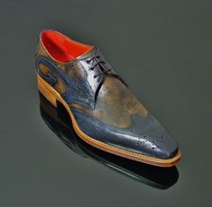 "Moon ""Ray"" Punch Gibson - Navy and Tan Botticelli. See size availability on our…would love to own these"