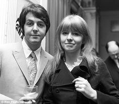 Young lovers: Paul with former girlfriend Jane Asher in 1968