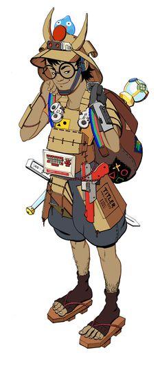 Cardboard Samurai, for an Akihabara-based pop culture...