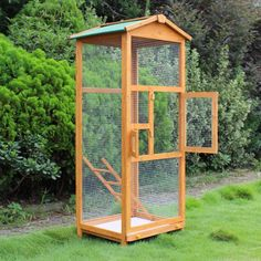 Large Bird Houses, Large Bird Cages, Wooden Bird Houses, Diy Bird Cage, Diy Bird Feeder, Bird Feeder Stands, House Ladder, Bird Cages For Sale, Chicken Cages