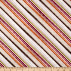Riley Blake Little Matryoshka Stripes Purple