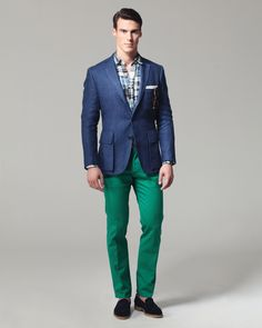 Ovadia and Sons Spring 2013 - Tony needs some green pants! Mens Fashion Website, Best Mens Fashion, Look Fashion, Fashion Brand, Fashion Suits, Latest Fashion, Cool Style, My Style, Style Men