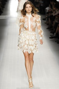Blumarine Spring 2014 Ready-To-Wear Collection.