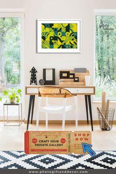 Geometric Art Style - Mixed Media Art - Photo Gift and Decor Luxury Home Accessories, Living Room Decor, Bedroom Decor, Decor Room, Ideas Cafe, Restaurants, Girl Room, Man Room, Office Decor