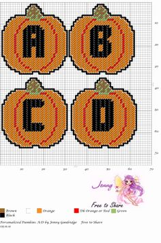 Personalized Pumpkins A-D