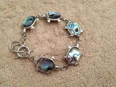 Abalone Shell Sea Turtle Bracelet - pinned by pin4etsy.com