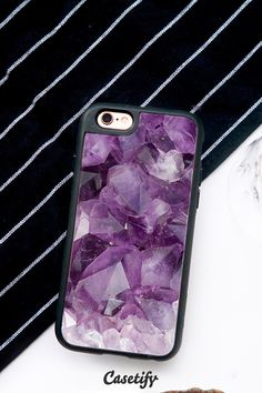 Shine bright like an Amethyst. Click through to see more amethyst iPhone 6 case designs >>> https://www.casetify.com/artworks/HdZrKSmW6d | @casetify