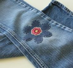 Tutorial: Fix hole-y jeans with pretty patches