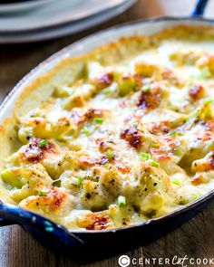 Cheesy Garlic Cauliflower Gratin- low carb, loaded with flavor, and sure to impress everyone.