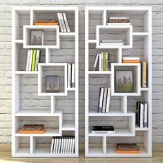Don't sacrifice style when adding storage space to your ensemble! Make your shelving part of the artful aesthetic by letting this bold bookcase hold all your essentials. Center it on a blank wall in the den to put colorful books and abstract metallic accents on display, then complement the eye-catching collection with a chic shag rug on the floor below, gleaming canvas prints on the surrounding walls, and glowing paper lanterns atop glossy tables to brighten your abode. Crafted of wood, M...