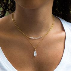 Moonstone Necklace Gift for Her Rainbow Moonstone Pendant