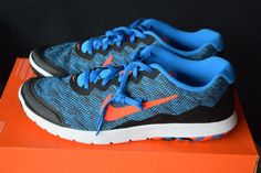 the latest 73f39 a627e New In Box Nike Flex Experience RN 4 Mens 11 Shoes Cobalt Blue Coral Black  If