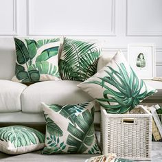 Leaf Design Cushion Covers from Elm & Blue