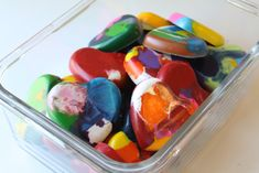 Recycle old crayons into Valentine's for preschool