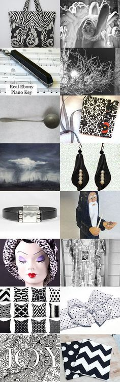 Black and white for SOTW  by Mokami on Etsy--Pinned with TreasuryPin.com