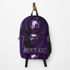 Vertigo Poster Backpack by Scar Design. Shop yours at my #redbubble store $51.50. #backpacks  #backpack #bags #fashion #bag #backpacker #travel #school #gym #campus  #college #highschool #weekendbackpack #travelbackpack Travel Backpack, Backpack Bags, Fashion Backpack, Vertigo Poster, Movie Gift, Alfred Hitchcock, Design Shop, Backpacker, Classic T Shirts