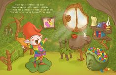 Seamus the Leprechaun and Sun Filled Days illustration by Csongor Veres Children's Book Illustration, Illustrations, Freelance Illustrator, Leprechaun, Childrens Books, My Friend, Warm, Sun, Children Story Book
