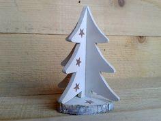 Árbol de Navidad blanco con estrellas en cobre por Inkcolora