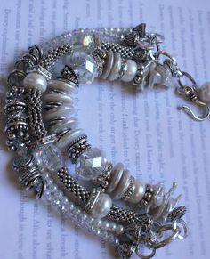 charm bracelet multi strand bracelet wedding от soulfuledges