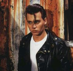 """Johnny Depp in his role as Wade """"Cry-Baby"""" Walker in the John Waters' film """"Cry-Baby. Johnny Depp Cry Baby, Young Johnny Depp, Here's Johnny, Movie Character Costumes, Movie Characters, Johnny Depp Joven, Cry Baby 1990, I Movie, Movie Stars"""