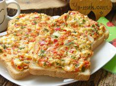 Kahvaltılık Domatesli Peynirli Ekmek Dilimleri Resmi