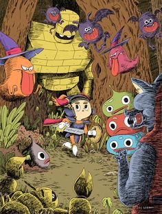 Wonderful Dragon Quest fanart by Zac Gorman