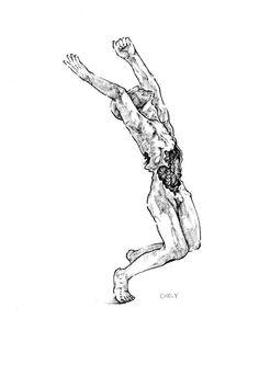 pen illustration  벌받은 아들(rodin)