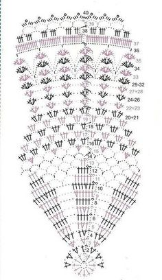 Shawl Crochet Patterns Part 11 - Beautiful Crochet Patterns and Knitting Patterns Crochet Doily Diagram, Crochet Doily Patterns, Crochet Chart, Thread Crochet, Filet Crochet, Crochet Motif, Crochet Designs, Knitting Patterns, Crochet Circle Vest